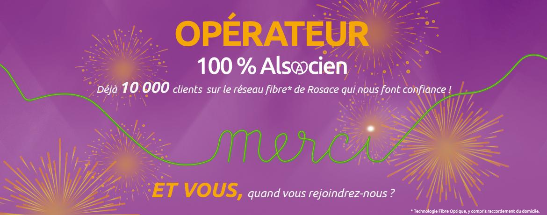 10 000 clients fibre